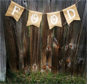Burlap 'Food' Banner for Rustic Graduation Parties or Shabby Chic Events