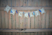 Burlap 'Go Colts' Spirit Banner for Gameday or Tailgaiting
