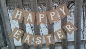 Burlap 'Happy Easter' Banner for Rustic Holiday Events