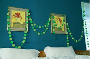 LIGHT GREEN And DEEP GREEN Colour Paper Garland For Weddings or Party