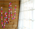 ROSE PINK And PURPLE Paper Garland For Weddings or Party