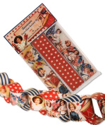 Bethany Lowe Vintage Style Americana Patriotic Paper Chain Garland