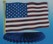 American Flag Honeycomb Centrepiece - 25cm Round