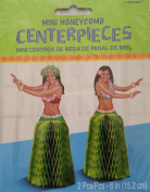 Hula Dancer Mini Honeycomb Centrepieces - 5.1cm - 15cm . Tall Pieces