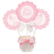 Its A Girl New Baby Centrepiece Sticks & Signs x 3