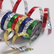 3 x Holographic Metallic Streamers - You Choose The Colours