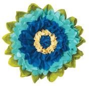 Tissue Paper Flower - Cobalt & Robin Egg 38cm