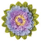 Tissue Paper Flower - Lilac & Periwinkle 38cm