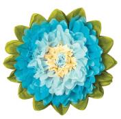 Tissue Paper Flower - Ice & Turquoise 38cm