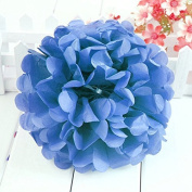 Worldoor® New Coming 12PCS Mixed Sizes Royal blue Party Tissue Paper Flower Pom Poms Pompoms Wedding Birthday Bridal Shower Party Favour Decoration