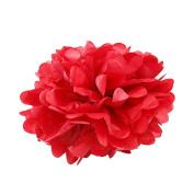 WYZworks - (RED 41cm ) - Tissue Pom Poms Flower Party Decorations for Weddings, Birthday, Bridal, Baby Showers Nursery Décor