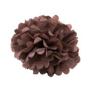 WYZworks - (BROWN 36cm ) - Tissue Pom Poms Flower Party Decorations for Weddings, Birthday, Bridal, Baby Showers Nursery Décor