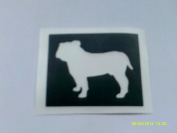10 x English Bulldog dog stencils for etching on glass hobby craft gift glassware