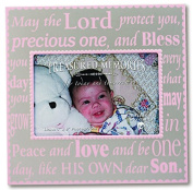N 1644PK PIC FRAME-BABY-SILVER/PINK