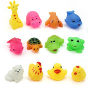 ElecMotive 12 pcs/Lot Mixed Different Animal Bath Toys Children Washing Education Toys