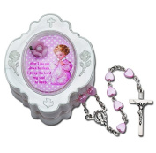 RY 877PK BABY'S FIRST HEART ROSARY-PINK