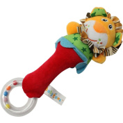 BABY EAMS Baby Kid Soft Animal Model Handbell Rattles Handle Developmental Toy
