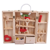 Wooden Blocks-Deluxe Tool Box Set