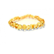 Certified Baltic Amber Bracelet | Safety Knotted for Child - CHAMPAGNE BAROQUE