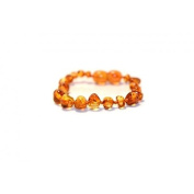 Certified Baltic Amber Bracelet | Safety Knotted for Child - HONEY BAROQUE