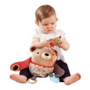 Baby Hug and Hide Animal Dog Owl Bear Monkey Sheep Plush Teether.