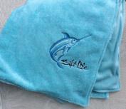 Ultra Soft Embroidered SALT LIFE ~ Blue Baby Blanket