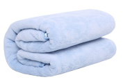 wztee Soft Coral Fleece Towelling Coverlet Nap Blanket Baby Blanket Blue