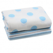 juDanzy 100% Cotton Swaddle Set of 2 Large 110cm x 110cm Muslin Baby Girl or Boy Blankets