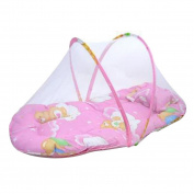 DZT1968(TM)Baby Bed Cushion Portable Folding Crib Mattress With Mosquito Net