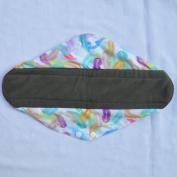 36cm Overnight Charcoal Bamboo Mama Cloth/ Menstrual Pads/ Reusable Sanitary Pads