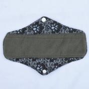 25cm Regular Charcoal Bamboo Mama Cloth/ Menstrual Pads/ Reusable Sanitary Pads