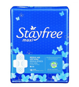 Stayfree Regular Maxi Pads with Wings-18 ct