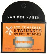Van Der Hagen Stainless Steel Razor Blades, 5 Count