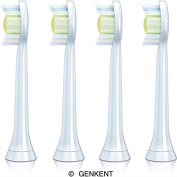 Genkent Generic Replacement Philips Sonicare HX6062/64 Diamondclean Replacement Brush Heads, Standard