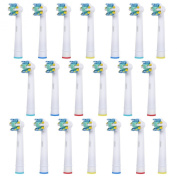 20 pcs Replacement Brush Heads Compatible with Oral-B Electric Toothbrush - Model EB-25A - Works with all Oral B Brush Handles (except for Sonic models) - by FolksCare