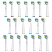 20 pcs Replacement Brush Heads Compatible with Oral-B Electric Toothbrush - Model EB-18A - Works with all Oral B Brush Handles (except for Sonic models) - by FolksCare