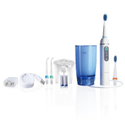 Jetpik JP200 Home - Rechargeable Electric Dental Flosser with Pulsating Floss+Water Jet Power and Sonic Toothbrush