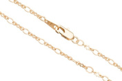 Crinkle/Oval Link Chain Necklace With Lobster Claw Clasp 24Inch 14K Gold Finished Brass 3mm Chain Width sold per 1pcs/pack (3pack bundle), SAVE $2