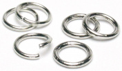 Cousin Jewellery Basics 8mm Open/Close Jump Ring, Silver, 200-Piece