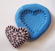 Heart Flexible Food Grade FDA Regulation Silicone Push Mould for Polymer Clay, Resin,wax,miniature Food,sweets,plaster