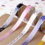 5pcs Paper Lace Roll DIY Decorative Sticky Paper Masking Tape Self Adhesive