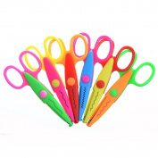 Cosmos ® Pack of 6 Assorted Colours Kids Smart Paper Edger Scissors for Teachers, Students, Crafts, Scrapbooking, DIY Photos, Album, Decorative