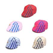 DDU(TM) 1Pcs Blue- Lovely Cotton Outdoor Peak Cap Sun Hat for Infant Baby Toddler Boy Girl