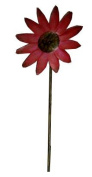 Craft Outlet Tin Daisy Flower Pick, 100cm , Red