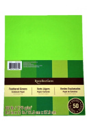 Recollections Cardstock Paper, 22cm X 28cm Feathered Greens - 50 Sheets