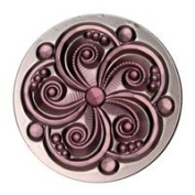 Stained Glass Jewels - 35mm Swirl - Amethyst