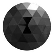 Stained Glass Jewels - 15mm Round Faceted - Black