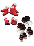 Santa and Snowman Booties for Babies and Kids Crochet Pattern