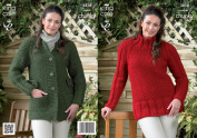 King Cole Ladies Big Value Super Chunky Knitting Pattern Womens Tunic Sweater & Coat 3818