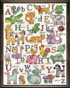 ABC Sampler Counted Cross Stitch Kit